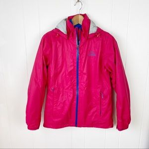 LL Bean 3 in 1 pink and blue jacket small